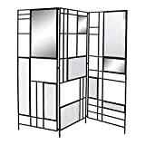 Biombo DKD Home Decor Metal Cristal Espejo (180 x 1.5 x 170 cm)
