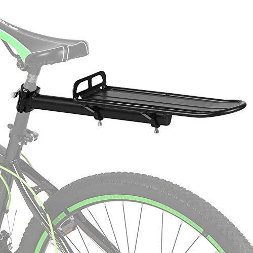 Lixada Intrekbare aluminiumlegering fietsen achter zadelpen rack fietstas bagage bagage bagagedrager rek