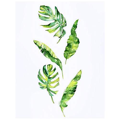 TOOGOO Verano Tropical Plantas Verdes Hojas Etiqueta de?la Pared CalcomaníAs de?Vinilo Decoraciones para el Hogar Pegatinas de?Pared para Habitaciones de?Ni?Os