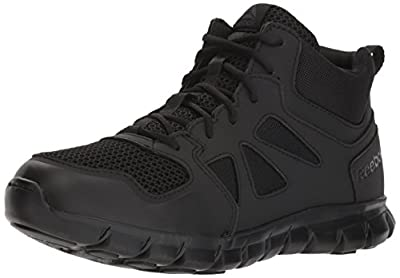 Reebok Men's Sublite Cushion Tactical RB8405 Military & Tactical Boot, Black, 10 M US