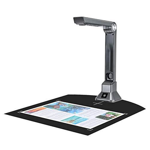 Kacsoo Cámara de Documentos portátil Proyector HD en Tiempo Real de 10 MP con reconocimiento de Texto OCR Escáneres de Documentos para escanear Documentos Documental Evidencia Pasaporte