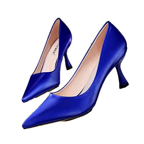 Frauen Pointed Toe High Heels Büro Karriere Pumps Frühling Herbst Mode Stilettos Closed Toe Professionelle OL Courts Schuhe