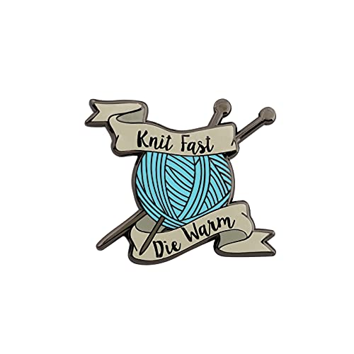 UJIMS Knitting Ball of Yarn Enamel Lapel Pin Sewing Knitting Themed Gift for Knitter Sewing Lovers Knit Fast Die Warm Craft Jewelry (Knitting Ball Lapel Pin)