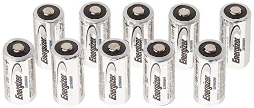 10 pcs Energizer Lithium CR123A 3V Photo Lithium Batteries