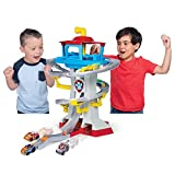 PAW PATROL Playset with Vehicles, Scale True Metal Adventure Bay Rescue Way-Juego con 2 vehículos exclusivos, Escala 1:55, Color Gris (Spin Master 6060065)