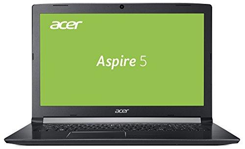 Acer Aspire 5 (A517-51G-80HZ) 43,9 cm (17,3 Zoll Full-HD IPS matt) Multimedia Laptop (Intel Core i7-8550U, 8 GB RAM, 256 GB SSD + 1.000 GB HDD, NVIDIA GeForce MX150, Win 10) schwarz