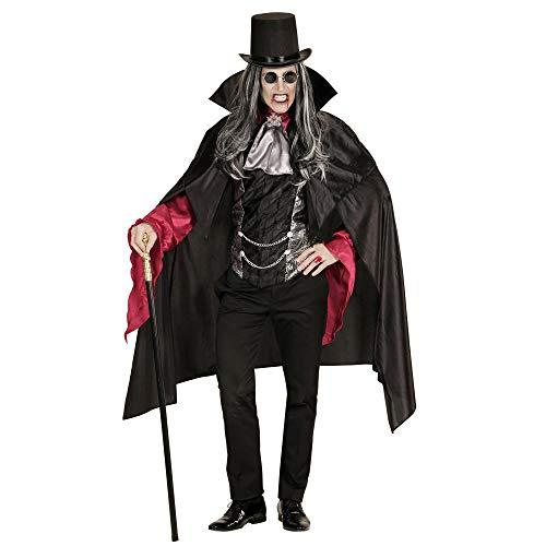 Widmann 07152  Disfraz de vampiro para adultos, negro, XL