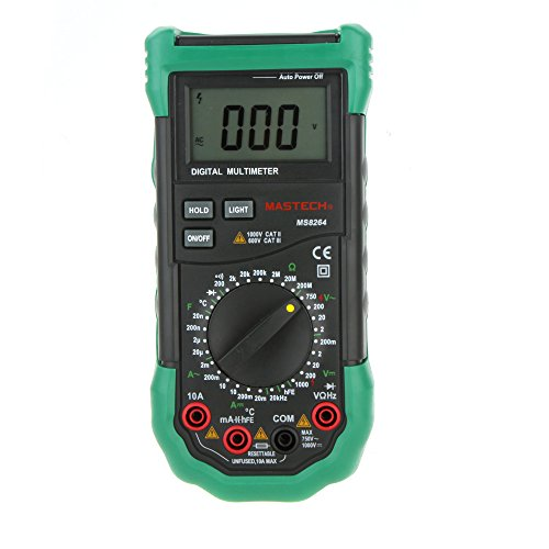Mastech MS8261 - Multímetro digital (medición de capacitancia, 30 alcances)