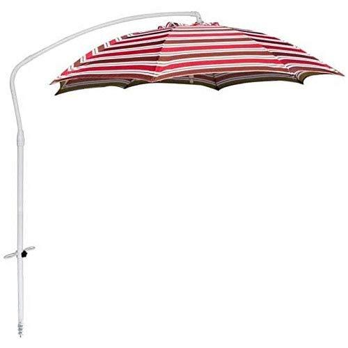 SJBD-Coaster Sombrilla de Playa Sombrilla de Aluminio de 35 mm / 8 Varillas de Fibra de Vidrio/Sombrilla de Pesca de Tela de poliéster con protección Solar (Color: Base)