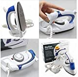 KRITISHA Portable Powerful Variable Temperature Mini Electrical Steam Iron with Foldable Handle, Compact