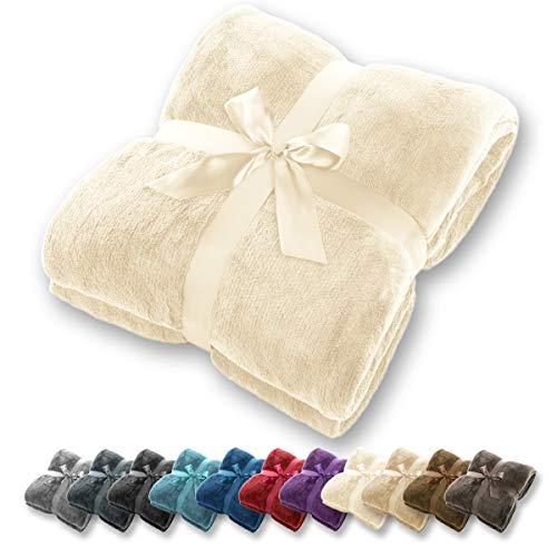 Manta Gräfenstayn - Muchos tamaños y colores diferentes - Manta de microfibra Manta para sala de estar Manta para cama -...