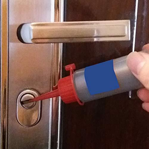 Lubricante en polvo de grafito 60 ml para el exterior de la puerta del hogar núcleo de bloqueo Nano grafito lubricante, Locksmith Supplies candado Tamaño libre negro