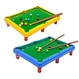 Mini Tabletop Pool Set Miniature Billiard Table Snooker Game Toy Indoor Outdoor Game Kids Adults(Random Color)