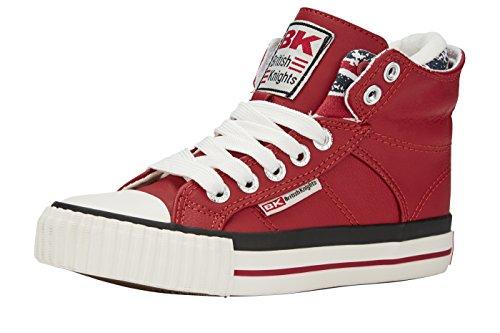 British Knights Unisex-Kinder ROCO High-Top Rot (red/union jack 02) 35 EU