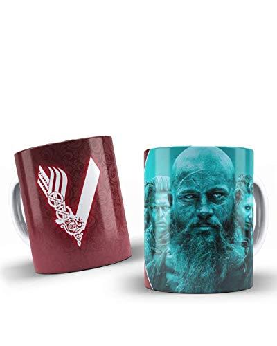 adaysusdetalles Vikings Taza Vikingos,Unidad Desayuno Regalo Cumpleanos Sorpresa