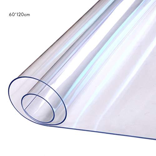 Surenhap - Mantel de cristal flexible de PVC transparente grueso e impermeable al agua y al aceite
