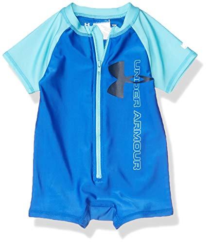 Under Armour Boys' Baby UA Colorblocked UPF Sunsuit, Versa Blue, 12M