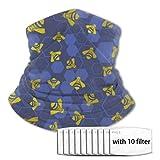Curpubum Honey Bee Killer Kids Windproof Multifuntion Headband Sun Uv Protection Neck Gaiter Balaclava with 10 Filter