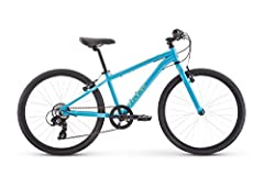 Low stand over aluminum frame for easy on and off; fits ages 8 to 12 years old or 53 to 61 inches tall 24 inch wheels keep the bike sized just right for bigger kids Shimano Reva shifters roll through 7 gears with an easy twist of the wrist Alloy V br...