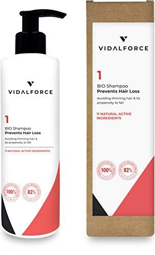 VidalForce, Champu 1 BIO | Prevención Caída | Evita el cabello fino y su propensión a la caída