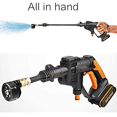 20V MAX Portable Pressure Cleaner,Handheld Pressure Cleaner,High Pressure Washer Gun Car Cleaner Handheld Wireless Flushing Gun Cleaning Tools Water Pressure Water Flow Self-Priming Faucet,I dljyy by dljxx