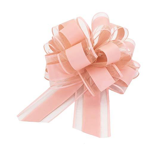 Oblique Unique® Geschenk Schleife mit Geschenkband Matt für Geschenke Tüten Zuckertüten zum Basteln Dekorieren Verzieren - Farbe wählbar (Rosa)