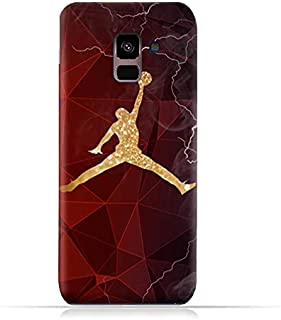 Samsung Galaxy A8+ (2018) TPU Silicone Protective Case with Jordan Silhouette Design