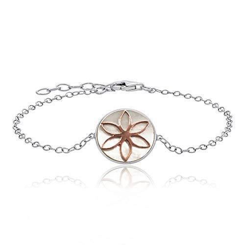 Julie Julsen Damen Armband Blume des Lebens Sterling Silber 925 - JJBR0621.8
