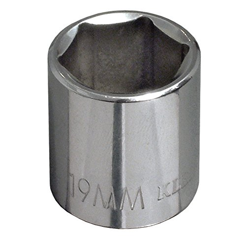 Klein Tools 65919 19 mm Metric 6-Point Socket with 3/8-Inch Drive
