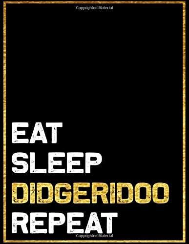 Eat Sleep Didgeridoo Repeat Blank Sheet Didgeridoo Wide Staff Manuscript Paper Notebook For product image