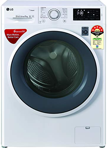 LG 8 kg Fully Automatic Front Load with In-built Heater White(FHT1208ZNW)