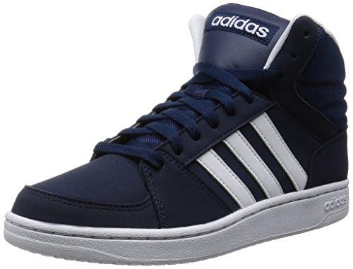 adidas VS Hoops Mid, Zapatillas de Deporte Hombre, Negro/Blanco (Maruni/Ftwbla/Ftwbla), 39 1/3