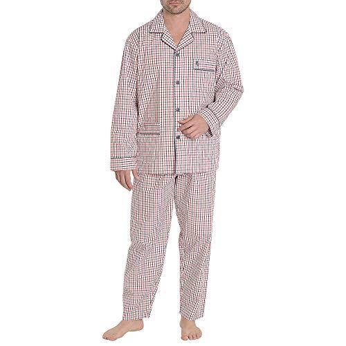 El Búho Nocturno Pijama de Caballero de Manga Larga clásico a Rayas...