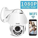 Dôme Caméra IP Extérieure WiFi sans Fil,360° HD 1080P Caméra Surveillance de Sécurité Intérieure,2-Voix Audio, Alerte...