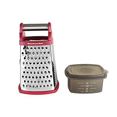 KitchenAid KN300OSPMA Gourmet Stainless Steel Box Grater, Pomegranate