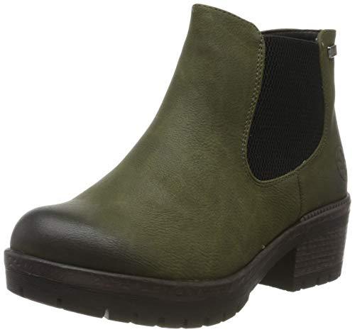 Rieker Damen 95290 Chelsea Boots, Grün (Tanne 54), 37 EU