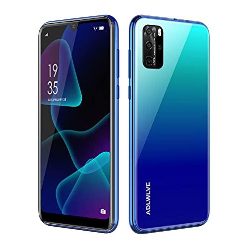 Teléfono Móvil Libres, Android 9.0 Smartphone Libre 4G, Water-Drop Pantalla 6,3 Pulgadas, 3GB RAM+32GB ROM 4600mAh Batería, Smartphone Barato Dual SIM, Cámara 8MP+5MP Telefono Celular (Azul)