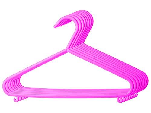 Bieco Kleiderbügel Kinder 8 St. Pink | Länge ca. 30cm | Baby Kleiderbügel | Kunststoff Kleiderbügel Kinder Baby | Baby Organiser Für Kleiderschrank | Kleiderbügel Baby | Baby Clothes Hangers