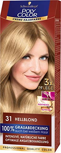 SCHWARZKOPF POLY COLOR Creme Haarfarbe Coloration 31 Hellblond, 1er Pack (1 x 115 ml)