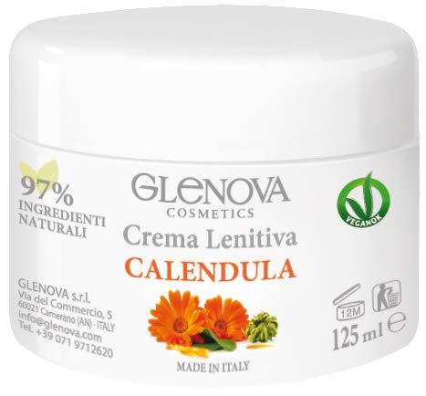 GLENOVA Cosmetics Crema Lenitiva alla Calendula Ideale in Caso di Punture di Zanzara, Scottature e Pelle secca