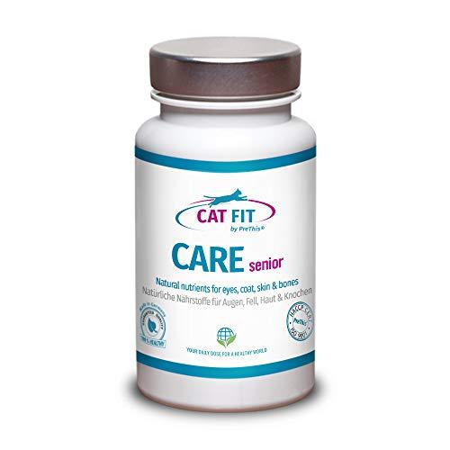 CAT FIT by PreThis® Care Senior | Stärkungspräparat für alte Katzen | Unterstützt Gelenke, Augen, Fell, Haut, Zähne & Stoffwechsel | Senior Futterergänzung
