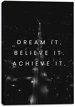Dream It 12x18in Motivational Inspirational Wall Art Canvas Inspirational Wall Art for Office product image