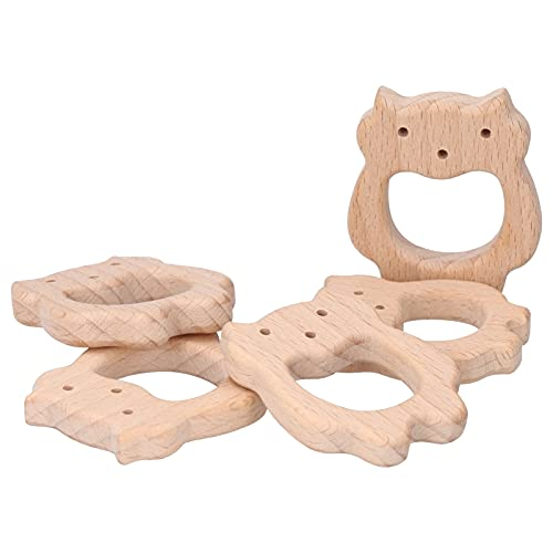 Mordedor para bebé, hermoso y delicado juguete para masticar bebé de madera único para bricolaje collar pulsera para bebé para dentición juguete para bebé
