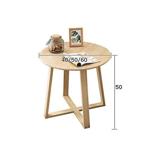 XCJ Mesa de Centro Mesas de salón Mesa velador Mesa Redonda Sofá Lateral Mesa de café, pequeñas y Redondas Mesa de Comedor de la lámpara de Mesa Fin de té con Patas de Madera sólida