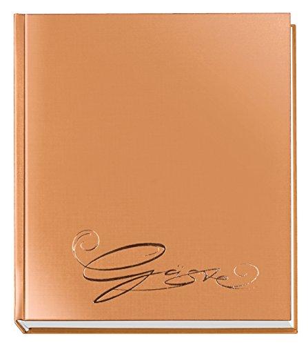 Veloflex 5420061 Gäste-Buch Classic mit Prägung Gäste, 144 Seiten weißes blanko Papier, 205x240...