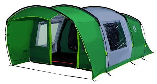 Coleman Tent Rocky Mountain 5 Plus XL, 5 Man Tent with BlackOut Bedroom Technology, 2 Bedroom Family Tent, 100% Waterproof Camping Tent