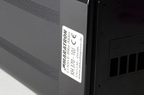 41wOGZVUdgL - Komplettset: Akku für E-Bike Pedelec 36V (37V) 12Ah 400Wh in schwarz für u.a. Phylion, MiFa, Rex, Prophete