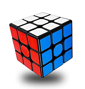 INTEGEAR Full Size 56mm Magic Speed Cube 3x3 Easy Turning and Smooth Play Durable Puzzle Cube Toy for Kids by Integear