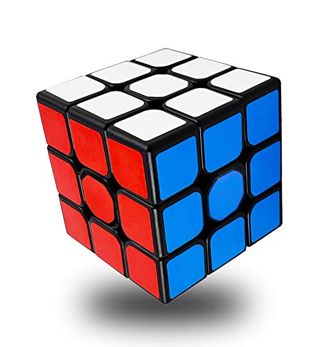INTEGEAR Full Size 56mm Magic Speed Cube 3x3 Easy Turning and Smooth Play Durable Puzzle Cube Toy...