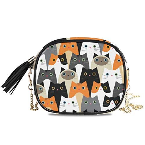 Wallet Card Holder Coin Case Cartoon Cat Large Capacity Purse Shopping Phone Bag